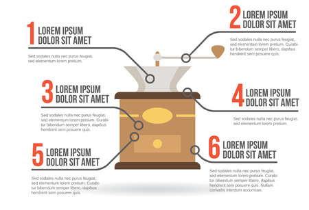 coffee mill: Coffee mill infographic vector illustration