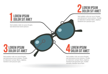 ray ban: Sun glasses infographic vector illustration