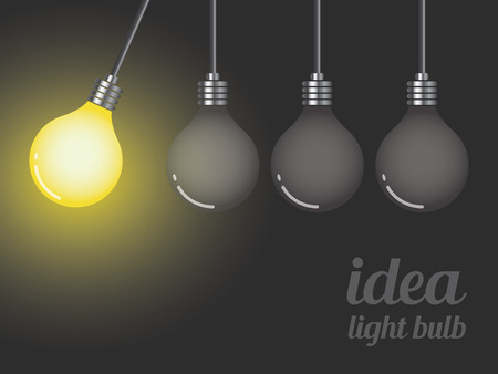 the stimulus: Idea light bulb concept, vector illustration Illustration
