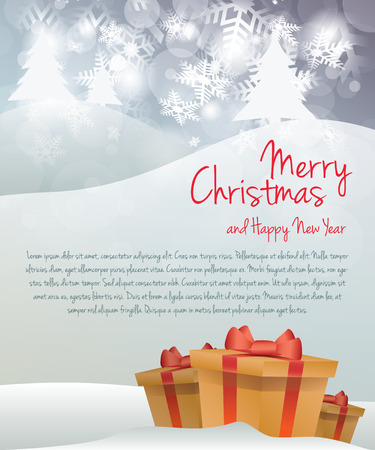 place for text: Christmas greeting card with place for text Illustration