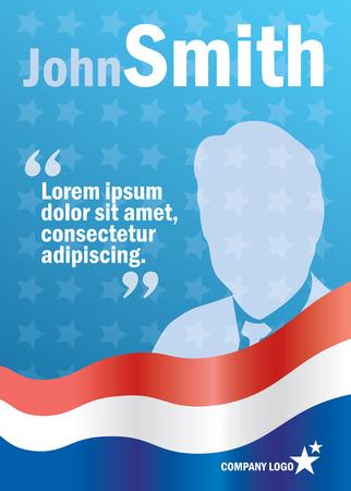 Presidentiële of Parlement verkiezingen poster sjabloon, vector billboard voor campagne