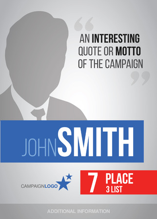 大統領または議会選挙ポスター テンプレート、ベクトル ビルボード キャンペーン
