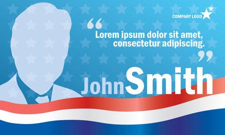 Presidential oder Parlament Wahlen Poster-Vorlage, Vektor Werbetafel für Kampagne Standard-Bild - 35128756