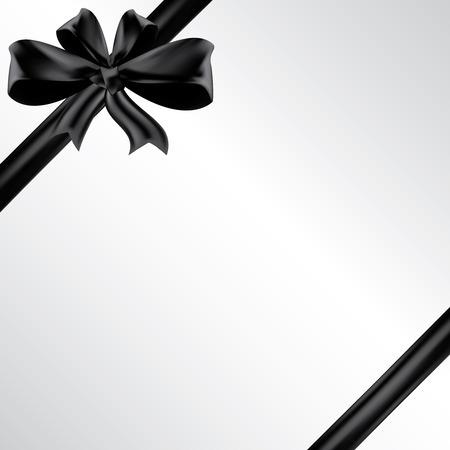 Vector tarjeta de funeral con cinta negro, el lugar de texto