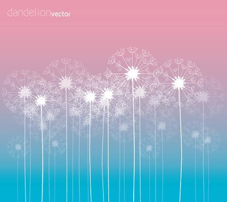snort: Dandelion vector background colorful illustration Illustration