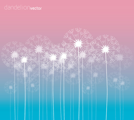 Dandelion vector background colorful illustration Illustration