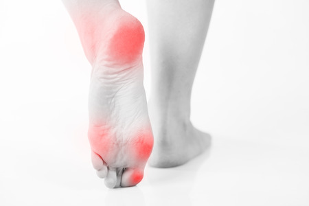 Female foot pain, Womans problem concept