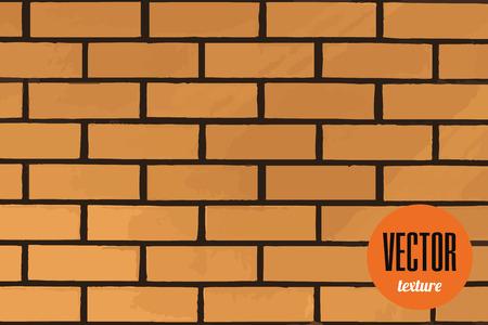 tiles texture: Vector clean brick tiles texture, yellow background