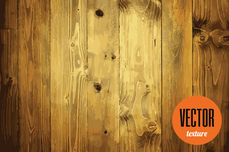 Vector clean wood planks texture, brown background
