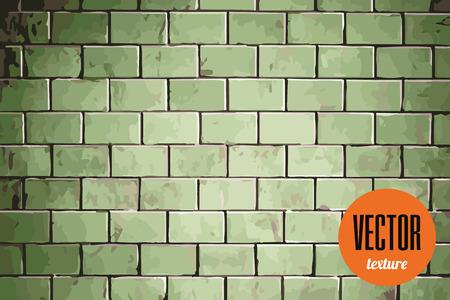 tiles floor: Vector green tiles floor texture, grunge background
