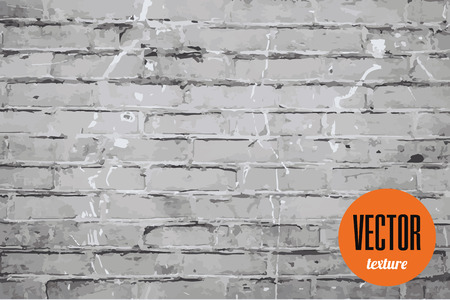 old brick wall: Vector old brick wall texture, grunge background Illustration