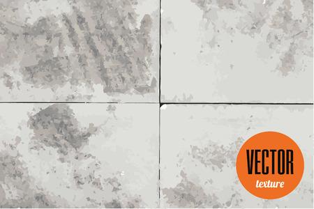 tiles texture: Vector plaster or cement tiles texture, grunge background