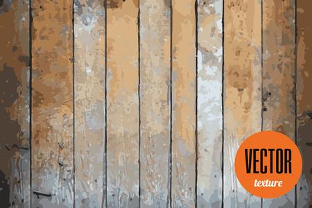 Vector wooden planks texture, grunge background Illustration