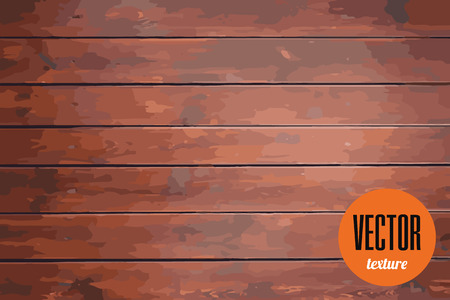 Vector clean wood planks texture, dark brown background