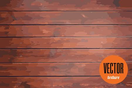 dark brown background: Vector clean wood planks texture, dark brown background