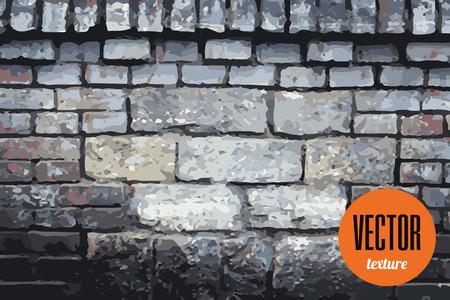 grey background texture: Vector dark grey brick wall texture, grunge background