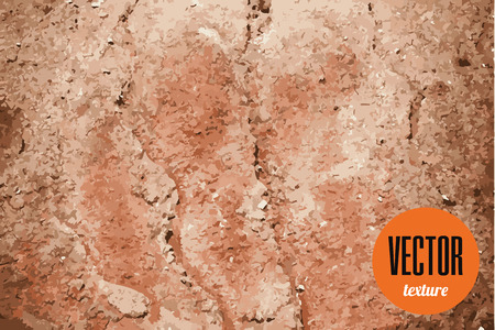 dry land: Vector dry land cracked ground texture, grunge background