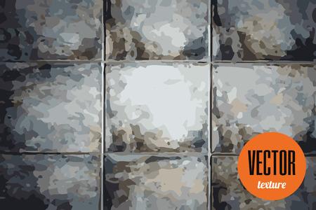 tiles floor: Vector old tiles floor texture, grunge background Stock Photo