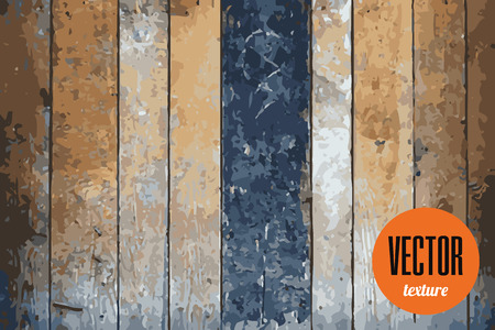 Vector wooden planks texture, grunge background Stock Photo