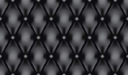 Black luxury quilt vector seamless pattern Vector