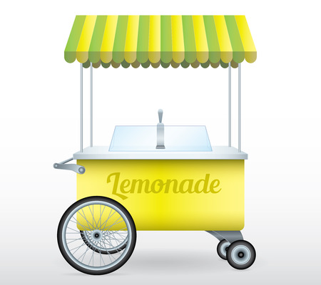 Lemonade stand cart vector illustration isolated object Stock Photo
