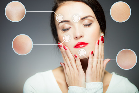 Beauty face concept, anti aging procedures on facial skin