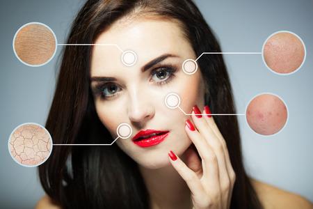 Beauty Gesicht Konzept, Anti-Aging-Verfahren auf die Gesichtshaut Standard-Bild - 36376452