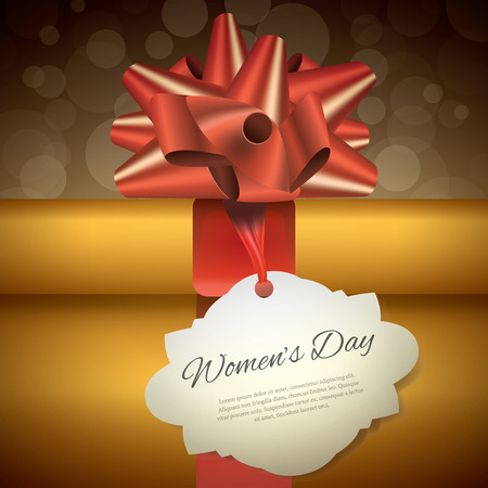 8 march: Gift for 8 march womens day, vector illustration Illustration