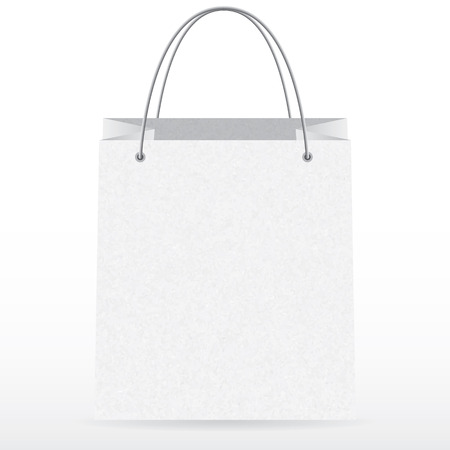 Front view of empty vector shopping paper bag
