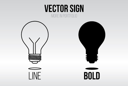 bold: Linear icon vector set, line and bold style