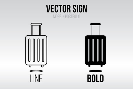 valise: Linear icon vector set, line and bold style