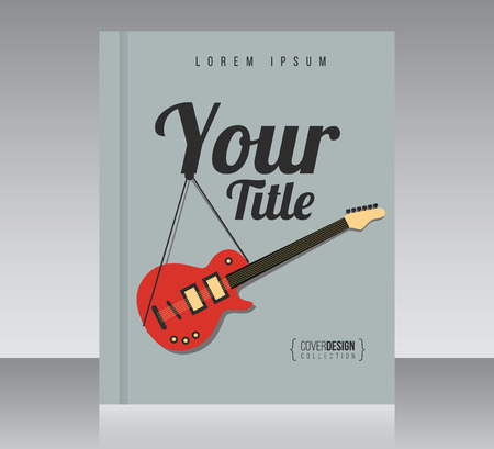 minimal style: Cover design vector template, minimal style magazine or brochure