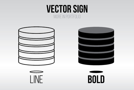 finanse: Linear icon vector set, line and bold style