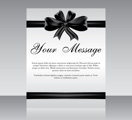 condolence: Cover design vector template, minimal style magazine or brochure