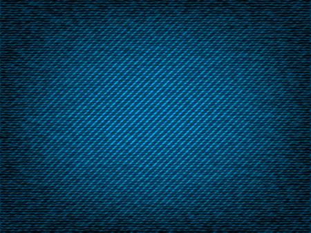 threadbare: Denim jeans vector texture closeup Illustration