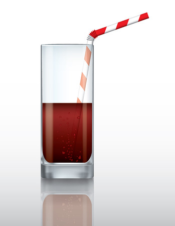 Vector glass of drink with drinking straw 版權商用圖片 - 39799053