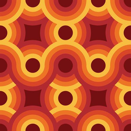 Nahtlose geometrische Vintage Tapete, Vektor-Illustration Standard-Bild - 42061338