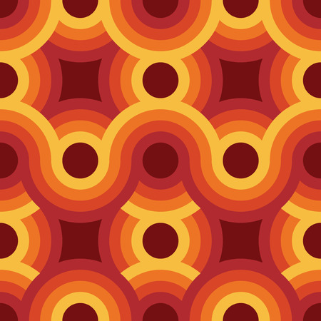 groove: Seamless geometric vintage wallpaper, vector illustration