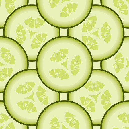 cucumber slice: Cucumber background, vector seamless pattern