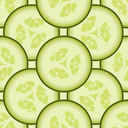 cucumber: Cucumber background, vector seamless pattern