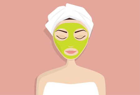 perfect skin: Mask for perfect skin, vector illustration