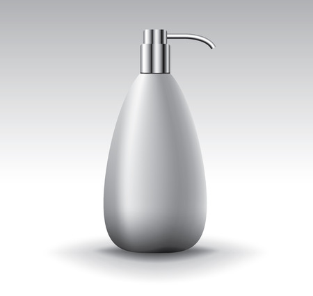 cosmetic bottle: Blank cosmetic bottle for liquid soap, vector object Illustration