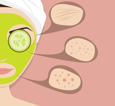 problems: Mask for skin problems, vector illustration Illustration
