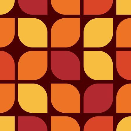 Seamless geometric vintage wallpaper, vector illustration Stok Fotoğraf - 42062573