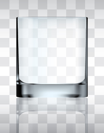 Empty drinking glass, transparent vector  イラスト・ベクター素材