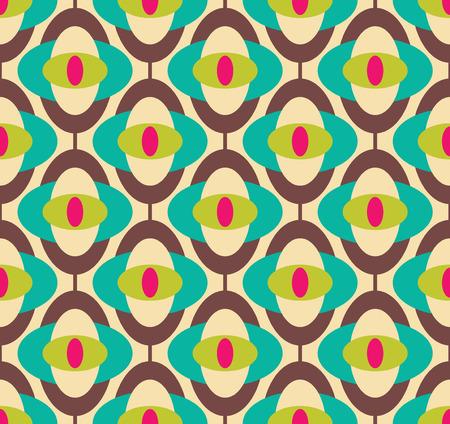 Seamless geometric vintage wallpaper, vector illustration
