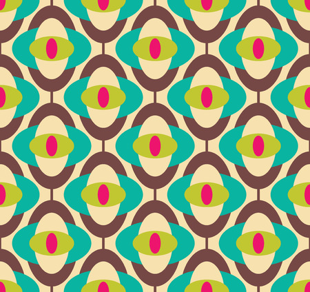 interior wallpaper: Seamless geometric vintage wallpaper, vector illustration
