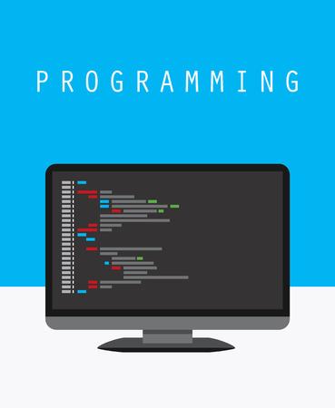 Programming and coding concept, website development