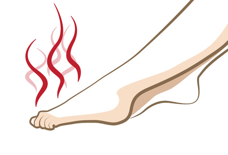 Smelly stinky feet, vector cosmetic concept