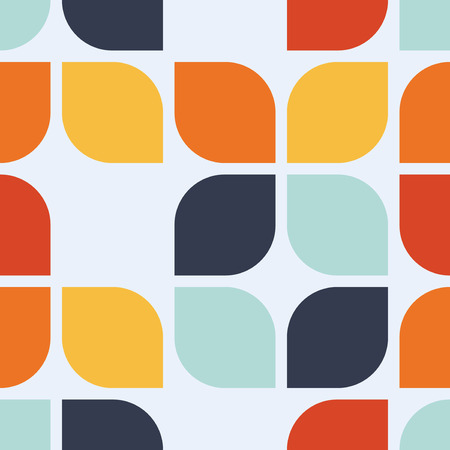 Seamless geometric vintage wallpaper, vector illustration